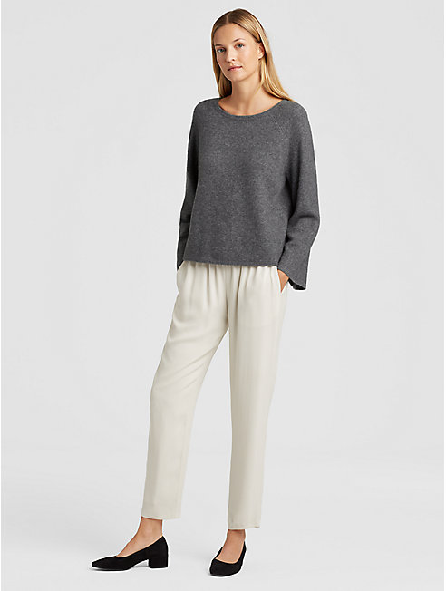 Cashmere Silk Bell-Sleeve Top