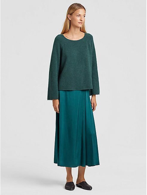 Cashmere Silk Bell-Sleeve Top