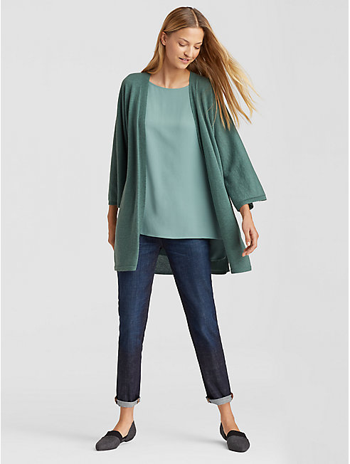 Plus Size Seamless Italian Cashmere Cardigan