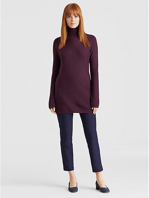Tencel Silk Turtleneck Tunic