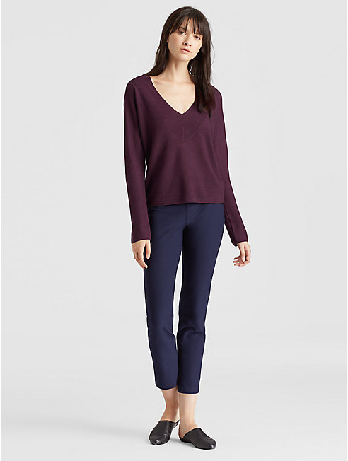 Tencel Silk V-Neck Top