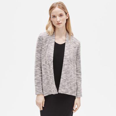 Organic Cotton Knit Jacquard Jacket