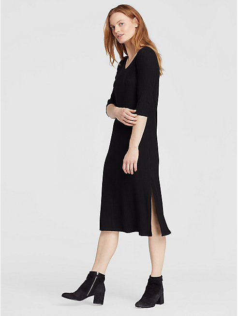Tencel Stretch Rib Dress