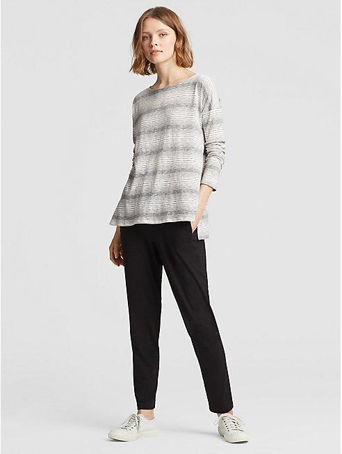 Cotton Tencel Stripe Box-Top