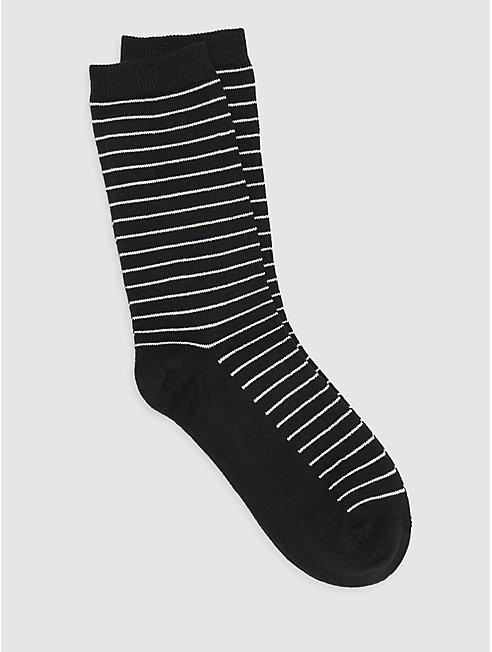 Fine Cotton Skinny Stripe Sock