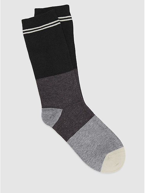 Fine Cotton Stripe and Colorblock Sock