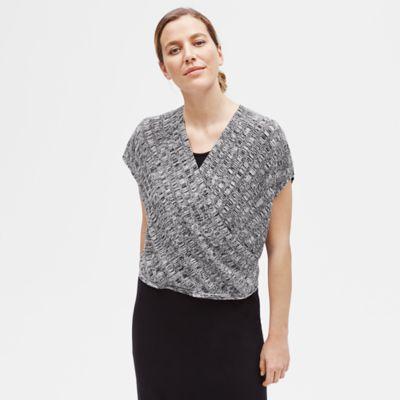 Fine Silk Organic Linen Surplice Top