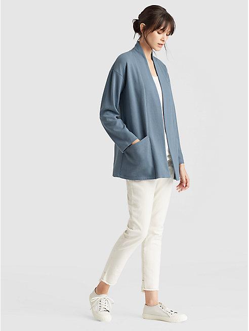 Diagonal Eco Knit Kimono Jacket