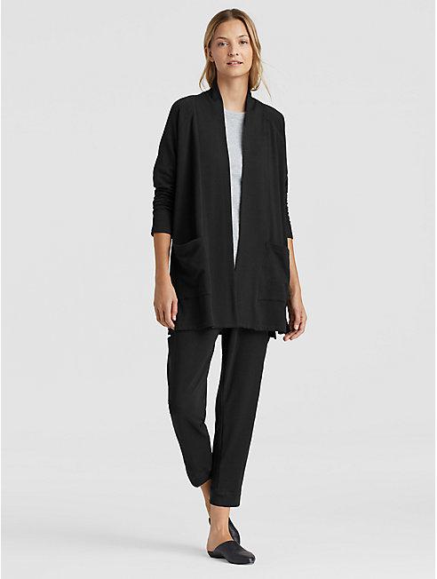 Tencel Organic Cotton Fleece Kimono Cardigan