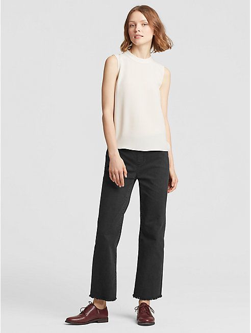 Organic Cotton Raw Edge Jean