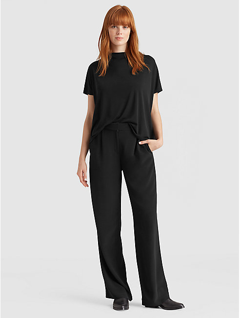 Tencel Viscose Crepe Trouser