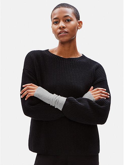 Lofty Recycled Cashmere Striped Glovelettes