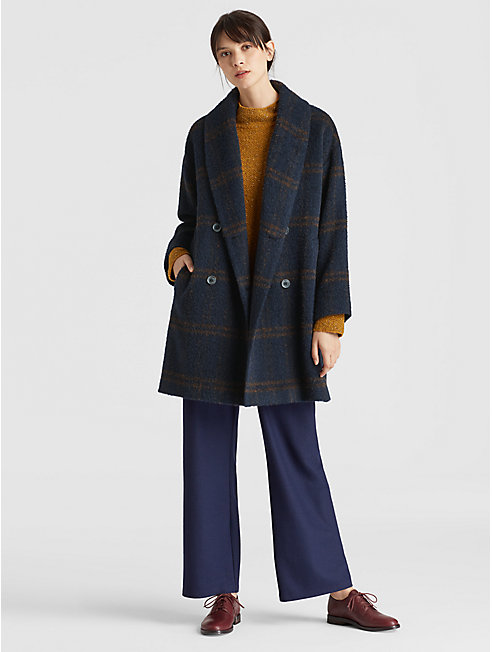 Luxe Alpaca Plaid Coat