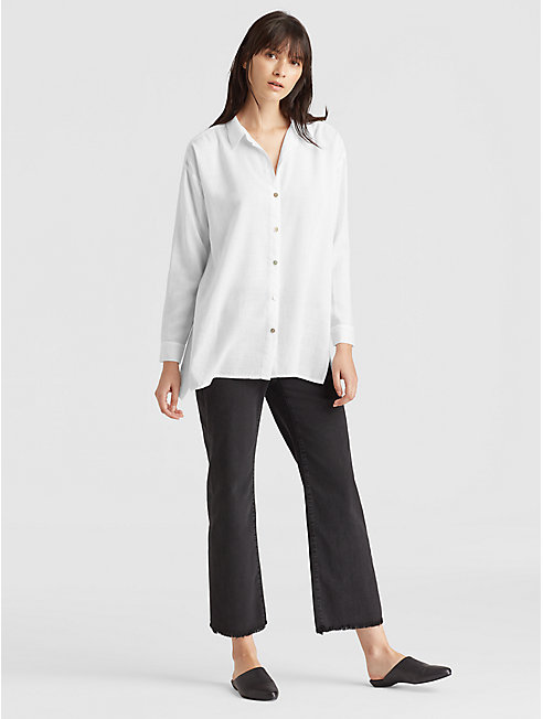 Drapey Tencel Classic Collar Shirt