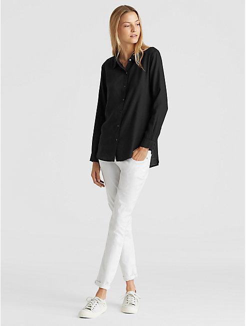 Drapey Tencel Classic Collar Shirt