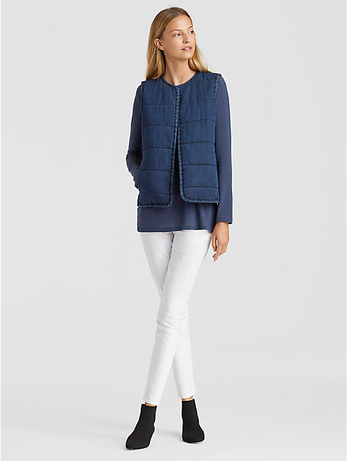 Tencel Organic Cotton Quilted Vest