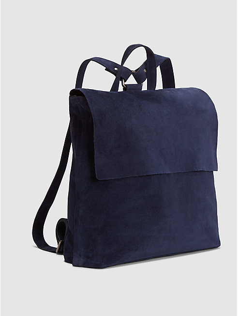 Italian Suede Small Backpack