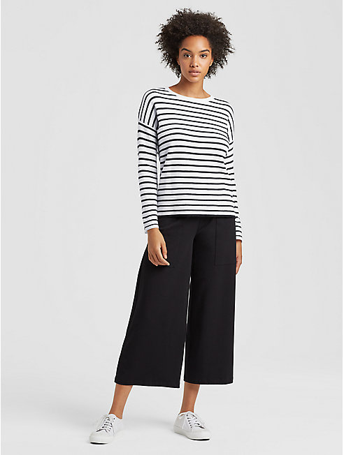 Merino Striped Box-Top