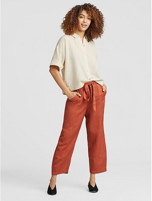Organic Cotton Crepe Boxy Shirt