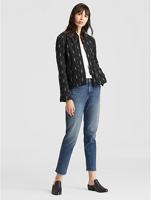 Organic Cotton Ikat Short Jacket