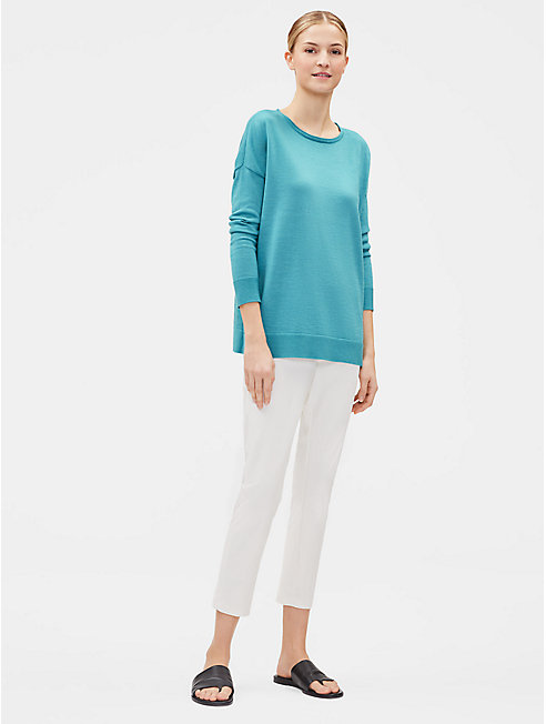 Plus Size Merino Jersey Box-Top