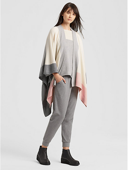 Lofty Recycled Cashmere Color-Blocked Serape