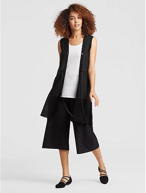 Organic Linen Belted Vest