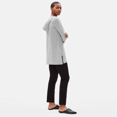 Organic Cotton Cashmere Hooded Tunic