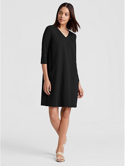 Organic Cotton Jersey A-Line Dress