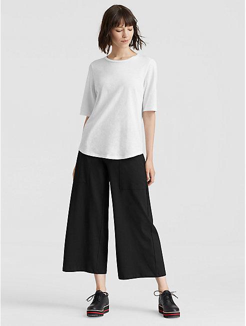 Organic Cotton Jersey Wide-Leg Pant