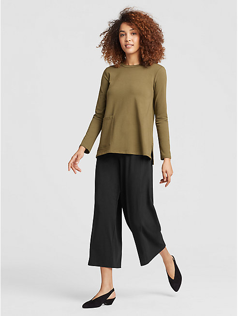 Organic Cotton Jersey Wide Pant