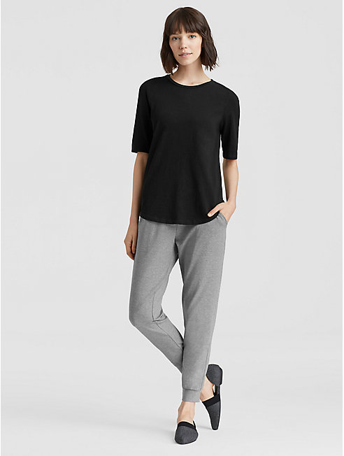 Heathered Organic Cotton Jersey Slouchy Pant