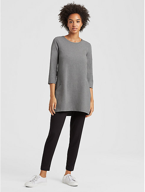 Heathered Organic Cotton Jersey Tunic