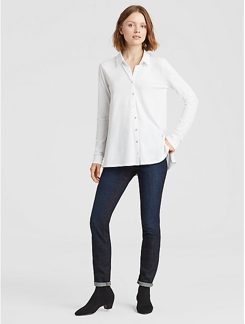 Organic Cotton Easy Jersey Classic Collar Shirt