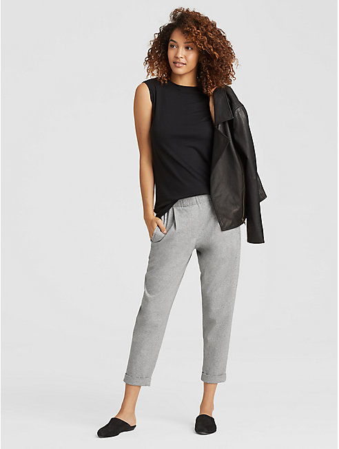 Speckled Organic Cotton Slouchy Pant