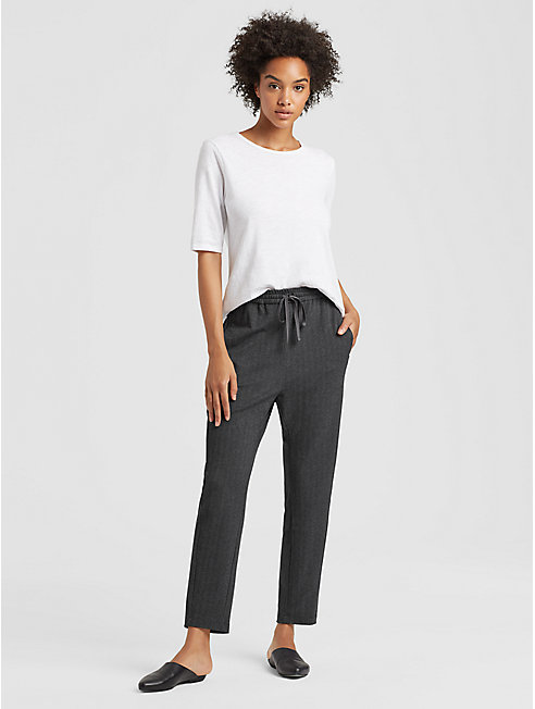 Herringbone Stretch Drawstring Pant