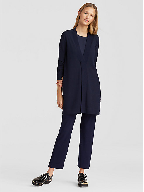 Luxe Merino Stretch Deep-V Tunic
