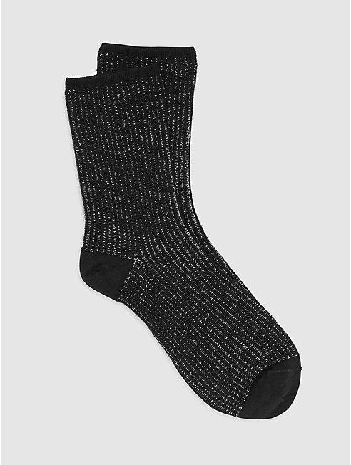 Cupro Nylon Stripe Shimmer Sock