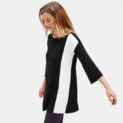 Silk Noil Side Panel Tunic
