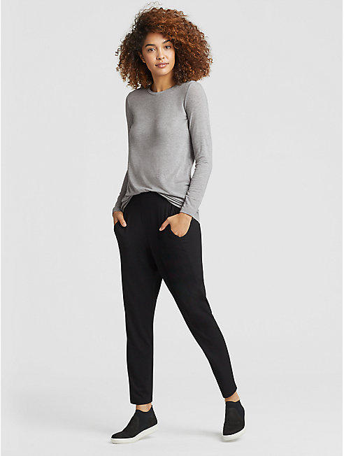 Tencel Cashmere Long-Sleeve Top