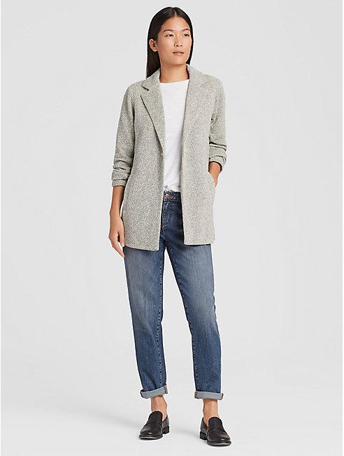 Organic Cotton Terry Long Jacket