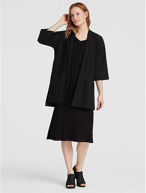 Washable Stretch Crepe Kimono Jacket