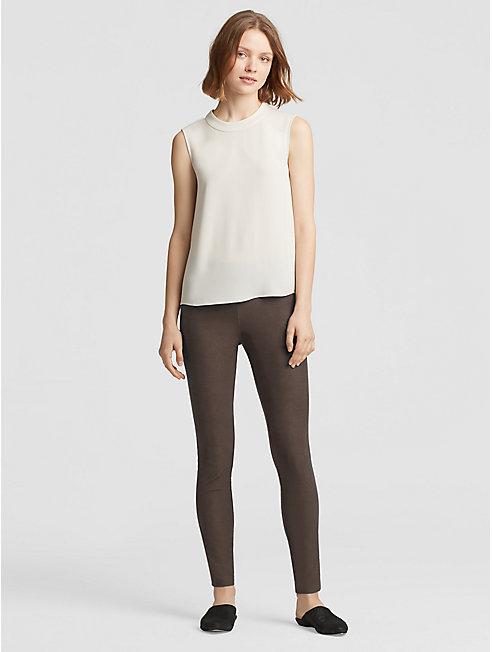 Washable Stretch Crepe Slim Pant