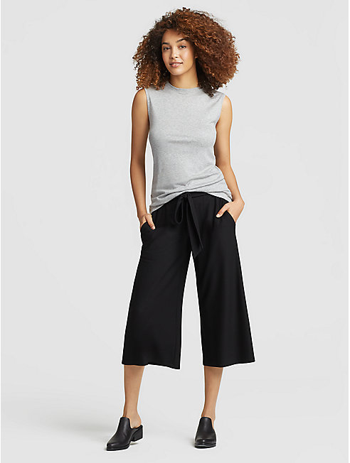 Lightweight Washable Stretch Crepe Tie Pant