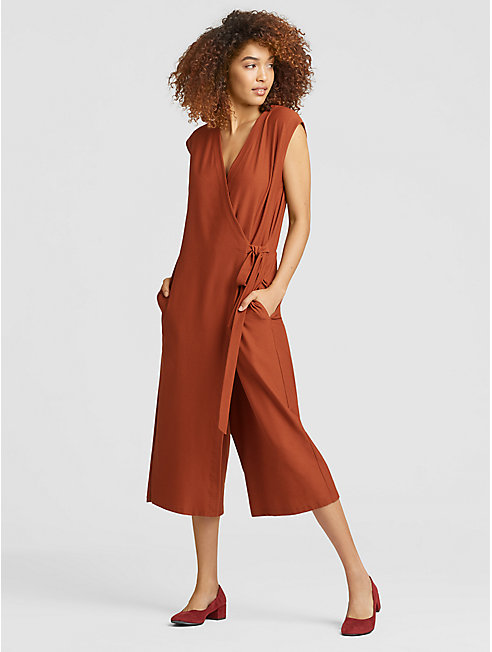 Lightweight Washable Stretch Crepe Jumpsuit