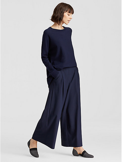 Lightweight Washable Stretch Crepe Wide Pant