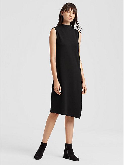 Tencel Ponte Faux-Wrap Dress