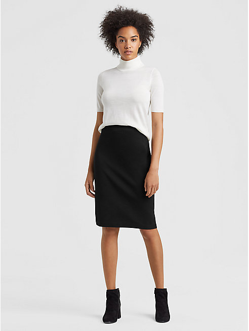 Tencel Ponte Pencil Skirt