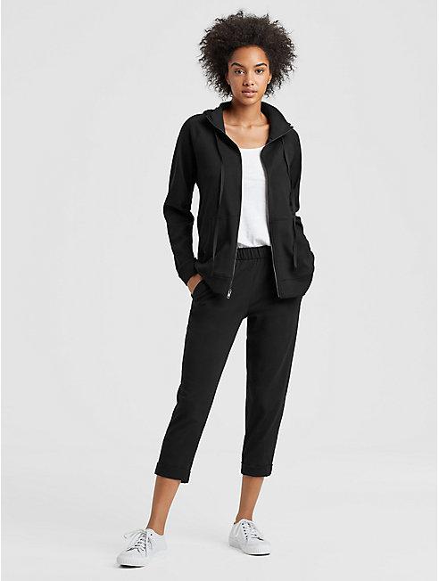Organic Cotton Interlock Hooded Jacket