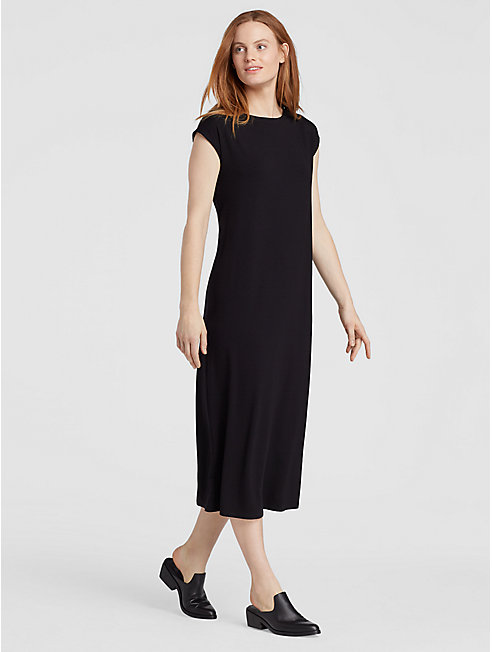 Viscose Jersey Tie Dress